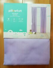 NEW Pillowfort Lavender Twill Solid Blackout Window Curtain Panel 42x84