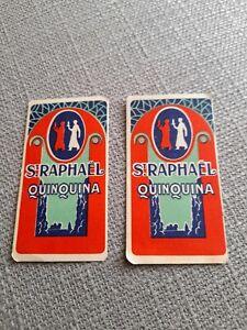 2 CALENDRIERS DE POCHE St RAPHAEL QUINQUINA  ANNEE 1926