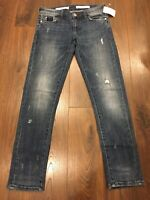 Pilcro and the letterpress Anthropologie Blue Slim Boyfriend Jeans, Size 24