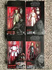 Star Wars Black Series Lot Jaina Solo, Imperial Shock Trooper, Rey D-O, Zuvio
