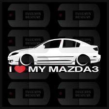 I Heart My Mazda 3 Sticker Love Slammed JDM Japan Speed Low Stance Sedan BK Gen1