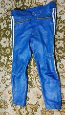 Vintage Original Harro Leather Blue Pants Size M