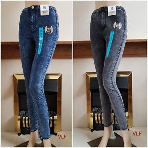 New Women Super High Waist Skinny Jeans from Ex-High Street Brand Size:6/8