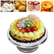 12'' Round Cake Stand Spinner Pedestal Dessert Food Holder Birthday Cake Decor