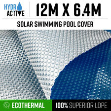 12x6.4m UV Stabilised Solar Swimming Pool Cover 400micron outdoor Bubble Blanket