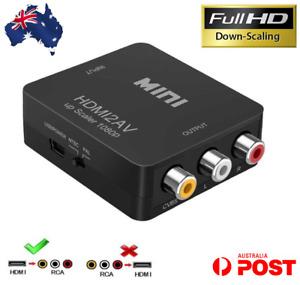 HDMI to RCA Composite AV CVBS 3RCA Video Cable Converter 1080p Downscaling