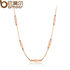 Luxury 18K Gold Plated Necklace With AAA Zircon Crystal For Women Gift