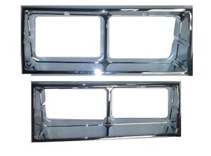 NEW 1981-86 Oldsmobile Cutlass Supreme Brougham Chrome Head light Bezel Set