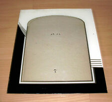 """Antique Art Deco 10"""" x 12"""" Glass Picture Frame Reverse Painted"""