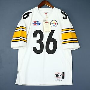 100% Authentic Jerome Bettis Steelers Mitchell Ness NFL Jersey Size 36 S Mens