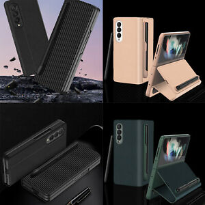 Protective Leather Bag Case for Samsung Galaxy Z Fold 3 Smart Phone