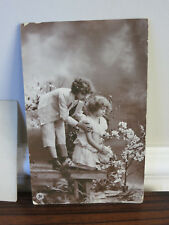 Antique Children German RPPC Postcard 1908 Postmark Postkarte