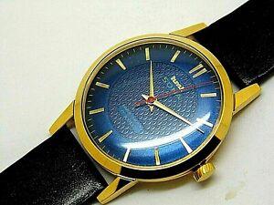 Hmt Sona Super Slim Hand Winding Men's Gold Plated 17 Jewel Vintage Watch
