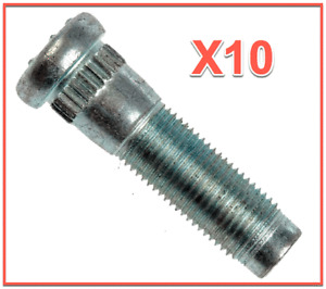 10 Wheel Lug Stud Front and/or Rear L/R for Dodge FORD Lincoln Mazda Mercury