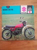 Fiche Moto Motorcycle Card 12 x 12,5 cm - Suzuki 125 TSC 1978