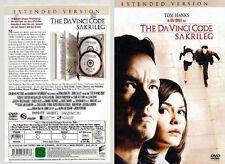 The Da Vinci Code - Sakrileg, 2 DVD, 24 Min längere Filmfassung,Extended Version