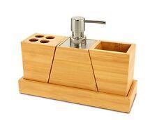 KOVOT Elegant and Stylish Bamboo Bathroom Set NEW, Free Shipping