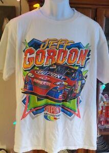 JEFF GORDON DUPONT LARGE SHIRT NASCAR MENS VINTAGE RETRO VTG CHASE