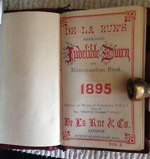 Antique Diary Memorandum Book De La Rue's & Co. London 1895