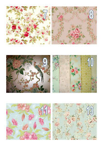 Edible Vintage Floral Wallpaper (7-12) A4 Icing Sheet Iced Cake Topper