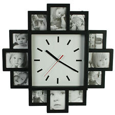 Personnalisé photos galerie photo horloge murale maison chambre cuisine time display