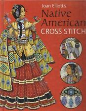 Native American Cross-Stitch HC Book Joan Elliott Apache Wedding,Alphabet,Navajo