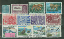 India 12 Stamps MNH and MH #1025