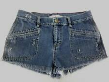 "Womens Junior Tag 11 Cut Off Jeans Shorts Tommy Hilfiger 31"" Waist Distressed"