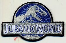 "JURASSIC WORLD iron on embroidered patch 3"" dinosaurs PARK SPIELBERG prehistoric"