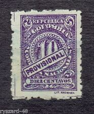 "Colombia 1920  -  Mi 270 C *   digit but with ""PROVISIONAL"""