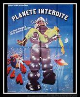 FORBIDDEN PLANET 1956 4x6 ft Vintage French Grande Original Movie ReRelease 1964
