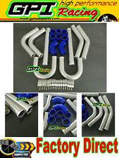 "UNIVERSAL TURBO BOOST INTERCOOLER PIPE KIT 2.25"" 57mm 8PCS Aluminum PIPING BLUE"