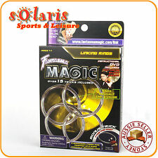Fantasma Magic's DVD Series Linking Rings Set Professional Magic Kit 15+ Tricks