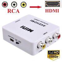 Xbox Composite RCA AV To HDMI Converter Adapter 1080P Upscaler HDTV DVD