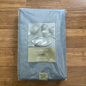 """NORITAKE SlateSpill Proof 60"""" x 120"""" Oblong Color wave Spill Proof Tablecloth"""