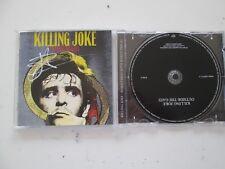 KILLING JOKE OUTSIDE THE GATE PROMO UK CD SIGNED BY JAZ COLEMAN PROMO STICKERS