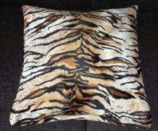 Kissenbezug, Kissenhülle 40x40 cm, Fellimitat Tiger, Dekokissen, Handarbeit, neu