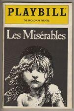 """Daisy Eagan """"Les Miserables""""  Playbill  1989  William Solo, Herndon Lackey"""