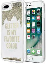 Apple iPhone 8 7 Plus Kate Spade New York Designer Liquid Glitter Case Cover NEW