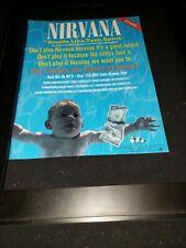 Nirvana Smells Like Teen Spirit Rare Original Radio Promo Poster Ad Framed! #5