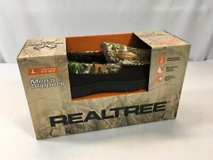 New In Box Men's Realtree Slippers Memory Foam, Superior Insulation Outdoor/Indo