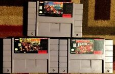 DONKEY KONG COUNTRY 1 2 3 TRILOGY LOT (Super Nintendo) VG SHAPE & TESTED