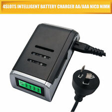 Intelligent 4 Slots LCD Charger for AA AAA NiCd NiMh Rechargeable Batteries New