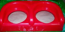 DOG DOUBLE BOWL HOLDER RED