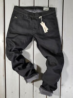 RRP $154 NEW DIESEL MEN'S JEANS DARRON R800W REGULAR SLIM TAPERED STRETCH BLACK