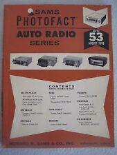 "Sams Photofact  ""Auto Radio Series  AR-53  August 1968"