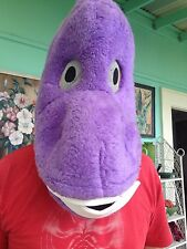 Purple Baby Dinosaur Mascot Head