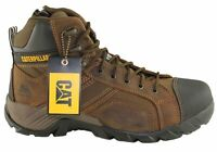 Mens Caterpillar Cat Argon Hi Side Zip Steel Toe Work/Safety Boots - ModeShoesAU
