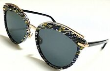 New Christian Dior OFFSET 2 9N7/2K Yellow Blue Tweed Pattern Black/Grey 55mm