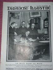 Dimanche illustré 15 décembre 1912  Signature à Madrid du traité franco espagnol